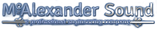 McAlexander Sound - Professional Engineering Company Logo